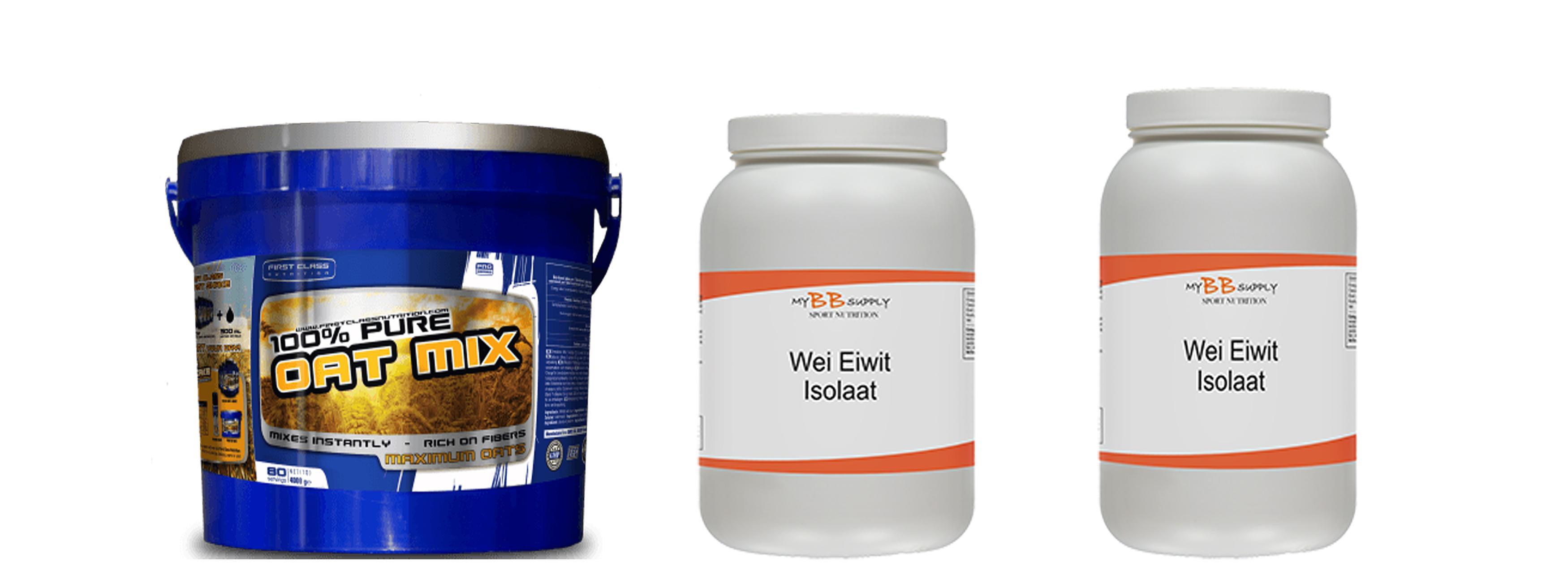 MyBBSupply Voordeelpakket Whey Eiwit Isolate Oat Mix